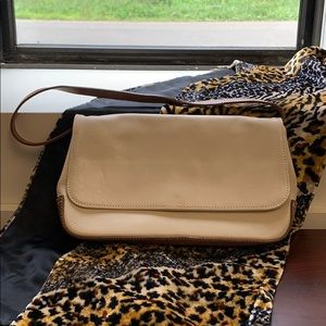 J Crew genuine leather tan/brown bag